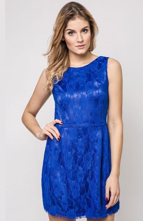 a8ab5ff076 Vera Fashion Sonia sukienka chabrowa - Modne sukienki 2017 - Odzież ...
