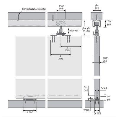 Top Mount Style Sliding Standard Single Track Barn Door Hardware Kit Door Hardware Barn Door Barn Door Hardware