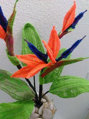 Bird Of Paradise Crochet Flower Patterns Crochet Plant Crochet Flowers