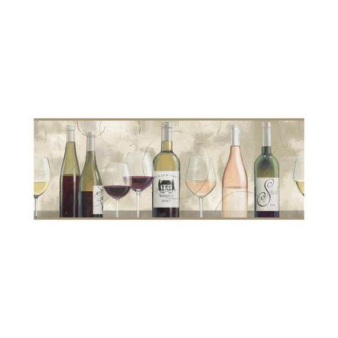 Browns York Wallcoverings NV9652B Border Portfolio II The Wine is Fine Border
