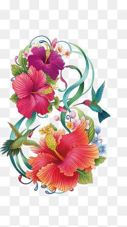 Hand Painted Hibiscus Flower In 2020 Hibiscus Clip Art Flower