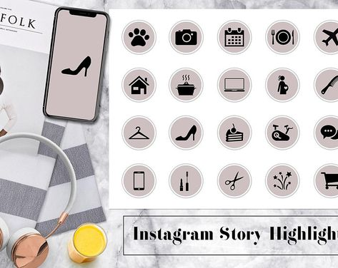 CUSTOM instagram story highlight icons  updated | Etsy