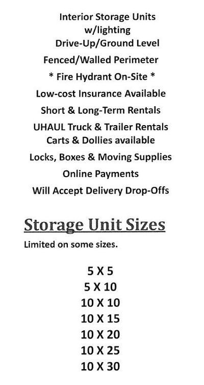 Rugar Self Storage Unit Sizes Storage Unit Rental Storage Unit Sizes Self Storage Units