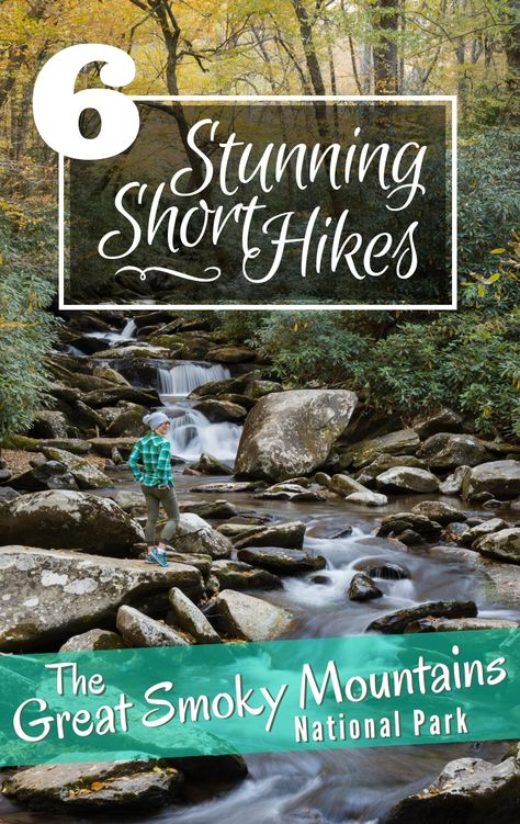 6 Stunning Short Hikes in the Smoky Mountains. Did you know that The Great Smoky Mountains are the most visited national park in the USA? Located near Gatlinburg, Tennessee in the Appalachian Mountains this spectacular national park offers well maintained Great Smoky Mountains, Smoky Mountains Hiking, Appalachian Mountains, Smoky Mountains Tennessee, Smoky Mountain Vacations, Appalachian Trail, Gatlinburg Vacation, Tennessee Vacation, Nashville Tennessee