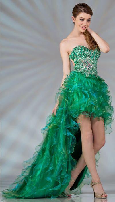 3911fa3b449 Cute Light Brown Flirty Fun Flowy Strapless Belted Waist Tube Top High-Low  Dress Talle  S