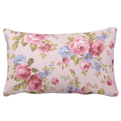 Beautiful Colorful Pastel Flowers Green Leaves Lumbar Pillow Floral Gifts Flower Flowers Pretty Pillow Pillows Floral Flower Throw Pillows