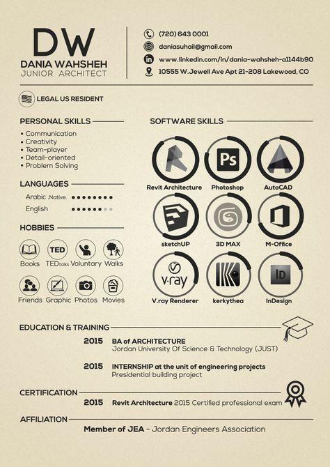 100+ unique examples of architecture resume design template