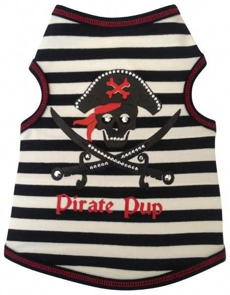 f97aed28f3a Pirate Pup Tank Top in 2 colors Black/Red or Pink/Black | How To ...