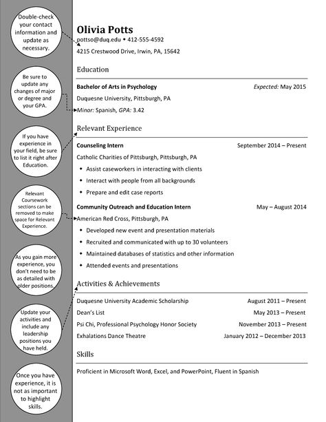 Upperclass Psychology Resume Psychology - Psychology Resume