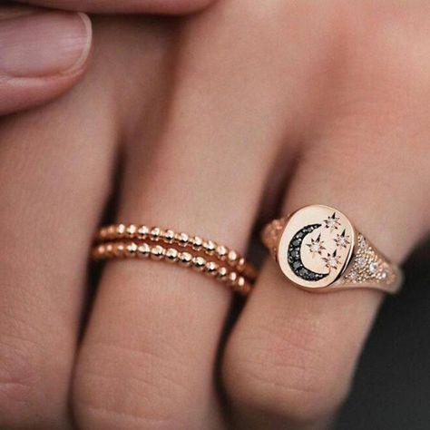 European Alloy Diamante Anniversary Rings #statementrings
