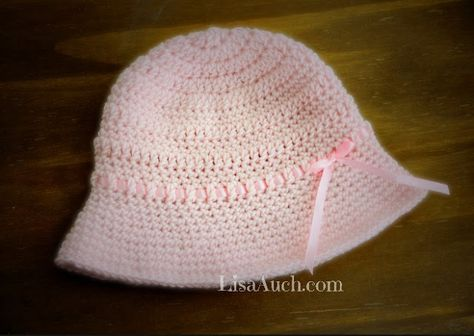 Free Crochet Patterns and Designs by LisaAuch  Easy Crochet Baby Sun Hat  (6-12month- Toddler) FRE. 4f9453c0d0c