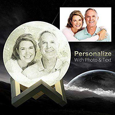 Kundenspezifisches Foto Mondlampe Nachtlicht Mit Ihrem Eigenen Bild Und Text 3d Gedruckte Mondlaterne Mit Standfuss Und Touch Cont Nachtlicht Bilder