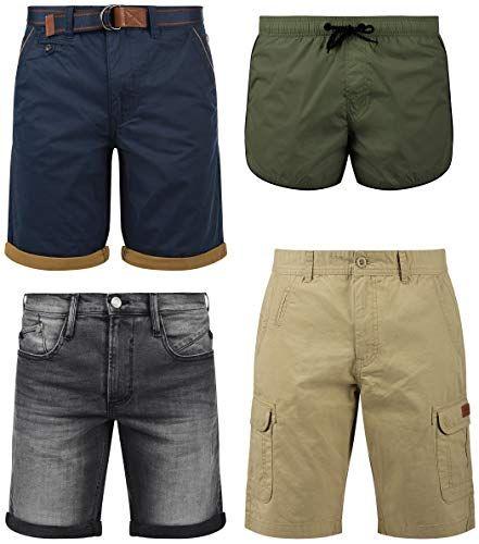 Indicode Alessio Herren Jeans Shorts Kurze Denim Hose mit Stretch-Anteil Regular Fit