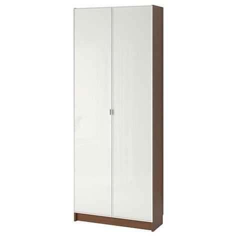 Ikea Ante Vetro Billy.Billy Oxberg Libreria Con Ante Bianco 80x42x202 Cm Nel 2020