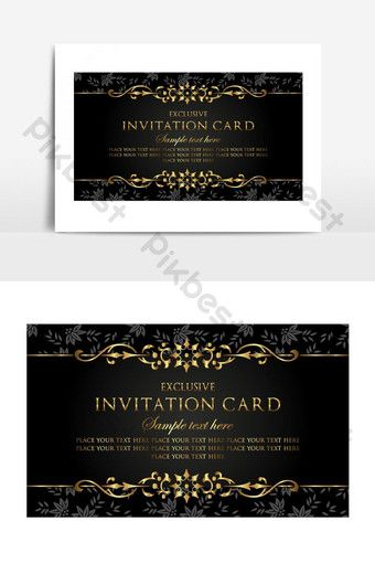 Luxury Invitation Cards Simple Vector Graphic Element Png Images Ai Free Download Pikbest Luxury Invitation Card Business Brochure Design Invitation Card Format