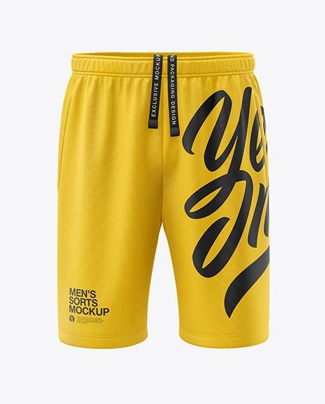 Men S Shorts Mockup In Apparel Mockups On Yellow Images Object Mockups Clothing Mockup Mockup Free Psd Mockup