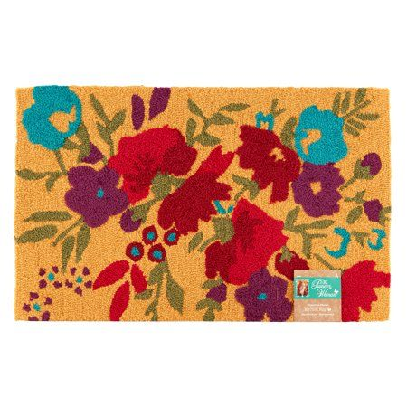 The Pioneer Woman Timeless Floral Kitchen Rug Walmart Com Rugs Kitchen Rug Rug Hooking