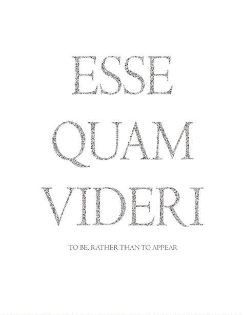 Printable Art  Esse Quam Videri  Latin  by KasperCreationsStore