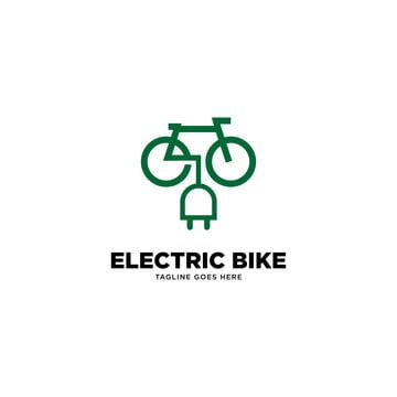 Electric Bike Logo Template Vector Illustration Vector Bike Logos Design Bike Logo Bike Icon