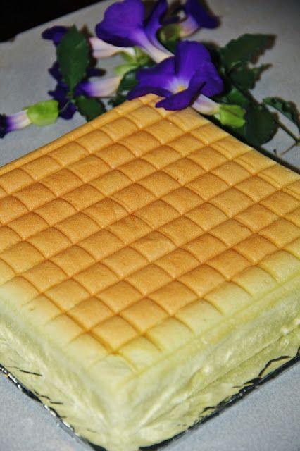 Jess Kitchen Lab Pandan Ogura Cake Ogura Cake Desserts Basic Sponge Cake Recipe