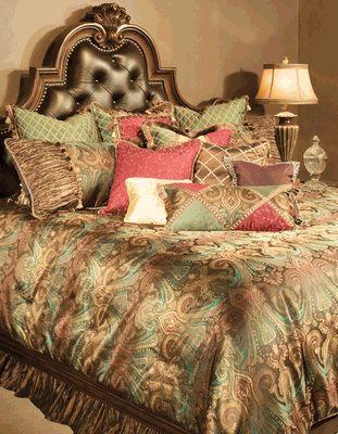 The Michael Amini Seville Luxury Bedding Set Features A Rich Color