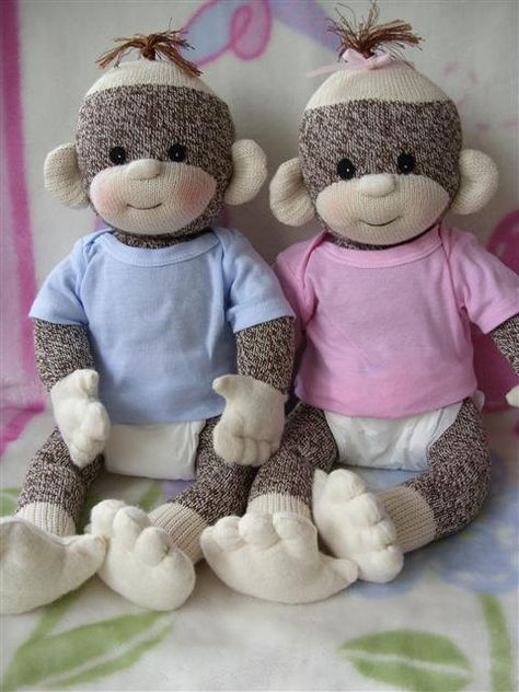 -- PDF PATTERN and supplies Baby Sock Monkey by LaliDolls on Etsy Sock Monkey Pattern, Sock Monkey Baby, Monkey Monkey, Sewing Toys, Sewing Crafts, Sewing Projects, Baby Patterns, Doll Patterns, Pattern Ideas
