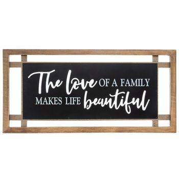 The Love Of A Family Wood Wall Decor Mirror Wall Decor Wood Wall Decor Wall Decor Quotes