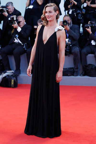 Cecile De France in Draped Black and Metallic - Best Dressed at the 2016 Venice Film Festival - Photos