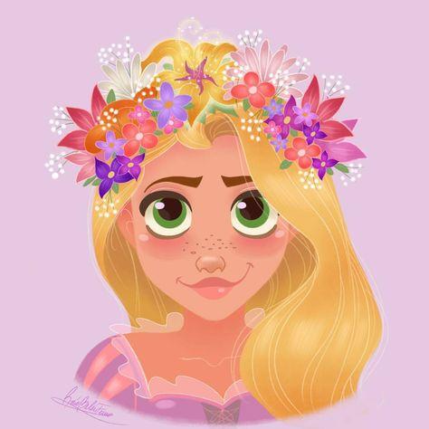 "Polubienia: 459, komentarze: 52 – Rocío Belén Ferreiro (@princessbeautycase) na Instagramie: ""Rapunzel with a colorful flower crown!! 🌸🌻👑🌹🌼 #rapunzelfanart #rapunzel #disney #disneyrapunzel…"""