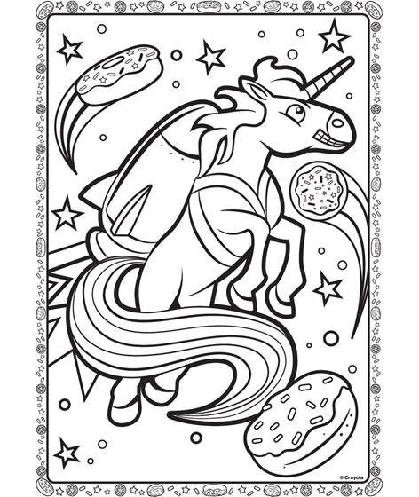 Unicorn In Space Coloring Page Crayola Com Unicorn Coloring