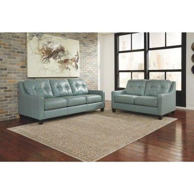 Sofas Light Sky Blue Signature Design By Ashley Blue Leather Sofa Sofa Signature Design By Ashley