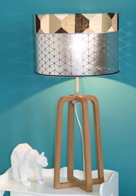 Abat Jour Design.Abat Jour Cylindrique Monte Sur Pvc Transparent Tissu