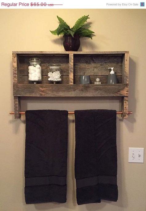 52 Bathroom Towel Rack Ideas Home Diy, Bathroom Shelves With Towel Bar Ideas