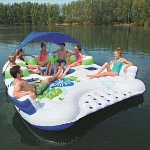 Bestway Coolerz X5 Canopy Island Inflatable Floating River Raft Inflatable Floating Island Inflatable Island Lake Floats