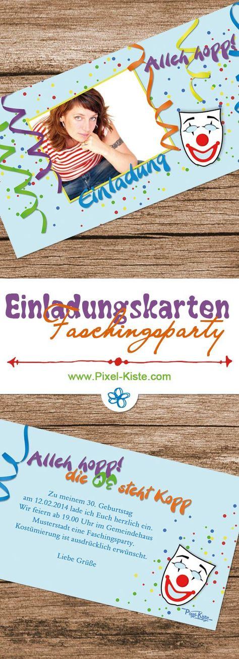 Einladungskarten Zur Faschingsparty Geburtstag Mottoparty
