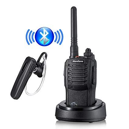 Nanfone Bluetooth Walkie Talkie with Bluetooth Earpiece NF