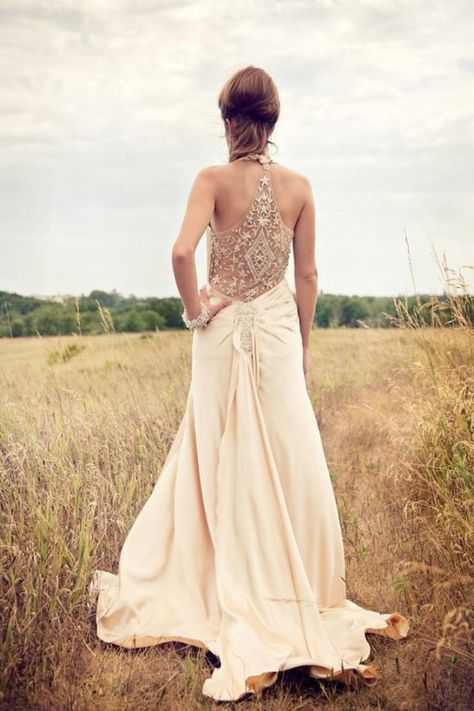 Boho chic hippie wedding gown love it