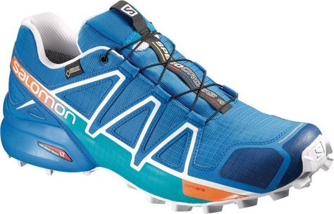 Salomon Speedcross 4 Men's Shoes Lime GreenBlueOcea 360° View