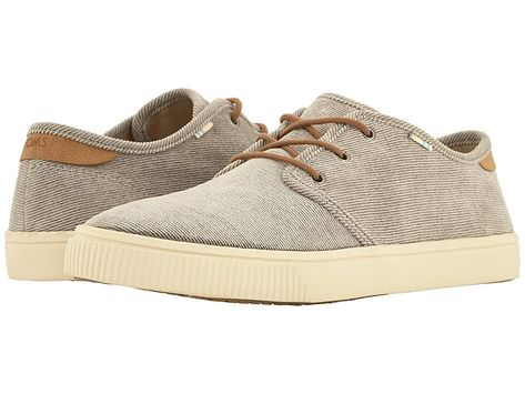 abb2bd6074 TOMS Carlo Men s Lace up casual Shoes Cement Micro Corduroy ...