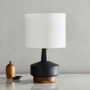 Wood Ceramic Table Lamp Medium In 2020 Ceramic Table Table Lamp Wood Table Lamp