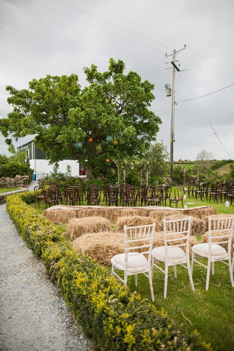 rustic wedding ceremony | Read more on http://onefabday.com/festival-wedding-images-by-nica/