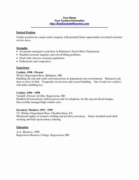 Cv Examples For Retail Jobs Uk Unique Photos Resume Cashier Sample Prime Nanny Example Picture Templates