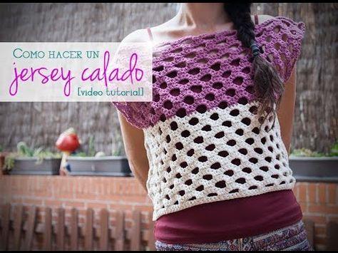 VÍDEO: Cómo hacer un jersey calado para el verano de ganchillo   How to crochet a summer sweater
