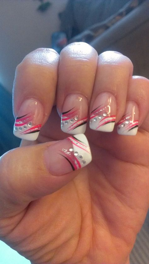 Pink and black nails gel nail designs, nail designs pretty nail designs,