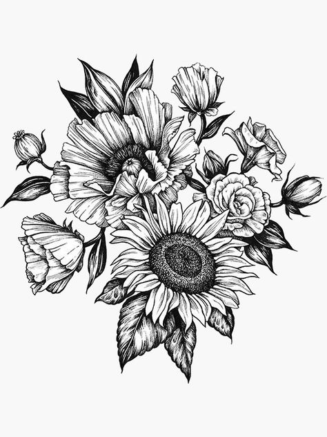black and grey tattoos for women flowers thighs ~ black and grey tattoos thigh + black and grey tattoos for women thighs + black and grey tattoos for women flowers thighs Cute Tattoos, Body Art Tattoos, Small Tattoos, Tatoos, Portrait Tattoos, Mom Tattoos, Tattoo Ink, Sunflower Tattoo Shoulder, Sunflower Tattoos