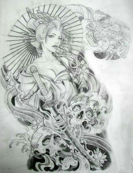 Gueixa Com Imagens Tatuagem De Gueixa Desenhos Para Tatuagem