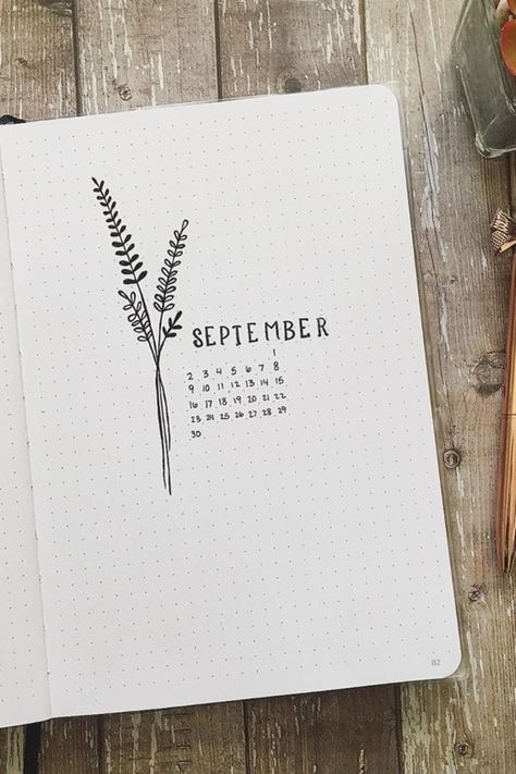 Fall is a great time to switch up your bullet journal theme! Check out the best September monthly cover ideas and examples for inspiration to get started! Bullet Journal September, Bullet Journal School, Bullet Journal Cover Ideas, Bullet Journal Month, Bullet Journal Notebook, Bullet Journal Spread, Bullet Journal Ideas Pages, Bullet Journal Layout, Journal Covers