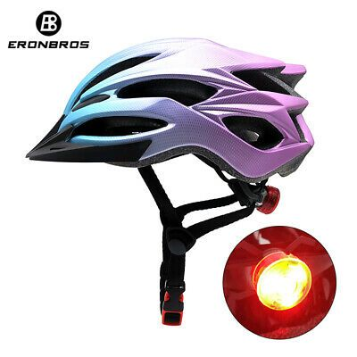 Details About Mountain Bicycle Helmet With Red Led Light And Sun