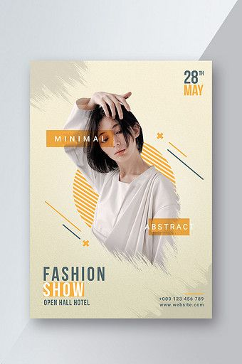 Fashion Show Abstract Design Poster Template Pikbest Templates Majalah