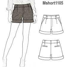 Como Hacer Pantalon Corto Short Pantalones Cortos De Mujer Disenos De Ropa Dibujos Pantalones Dibujo